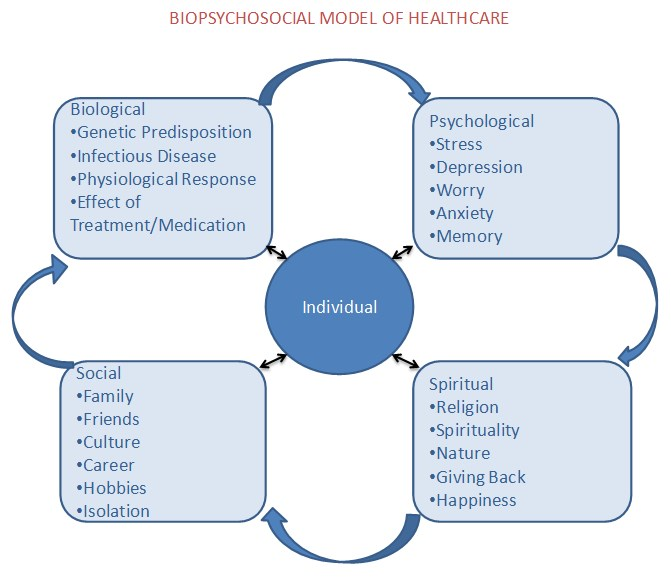 models and perspectives care biopsychosocial Recognizing the limitations of the biopsychosocial model in 1977, george engel famously argued that medicine in general and psychiatry in particular ought to shift from a bio-medical perspective of disease to a biopsychosocial (bps) perspective on health he argued that the bio-medical perspective.